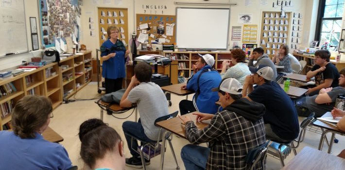 CHHS seniors visit with author Cathy Pickens